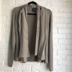 Eileen Fisher silk tan sweater w. Scarf sz XS